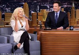 Christina on Jimmy Fallon