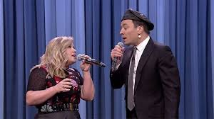 kelly Clarkson & Jimmy Fallon